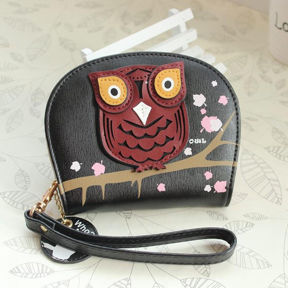 Fashion Stylish Womens purse Girl Owl Leather Zip Clutch Coin Money Bag Coin Change Wallet Bolsa Feminina Bags High quality