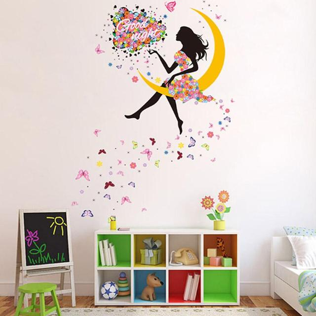 new diy removable wall stickers decor decor flower butterfly fairy