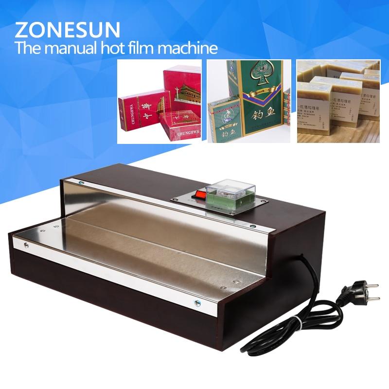 ZONESUN iphone film heat shrink wrapping machine for perfume box zonesun pe stretch film machine