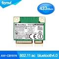 Azurewave Realtek RTL8821AE 802.11AC 433 Mbps wi fi Bluetooth 4.0 Combo AW-CB161H metade Mini PCI - e Bluetooth cartão wi fi sem fio