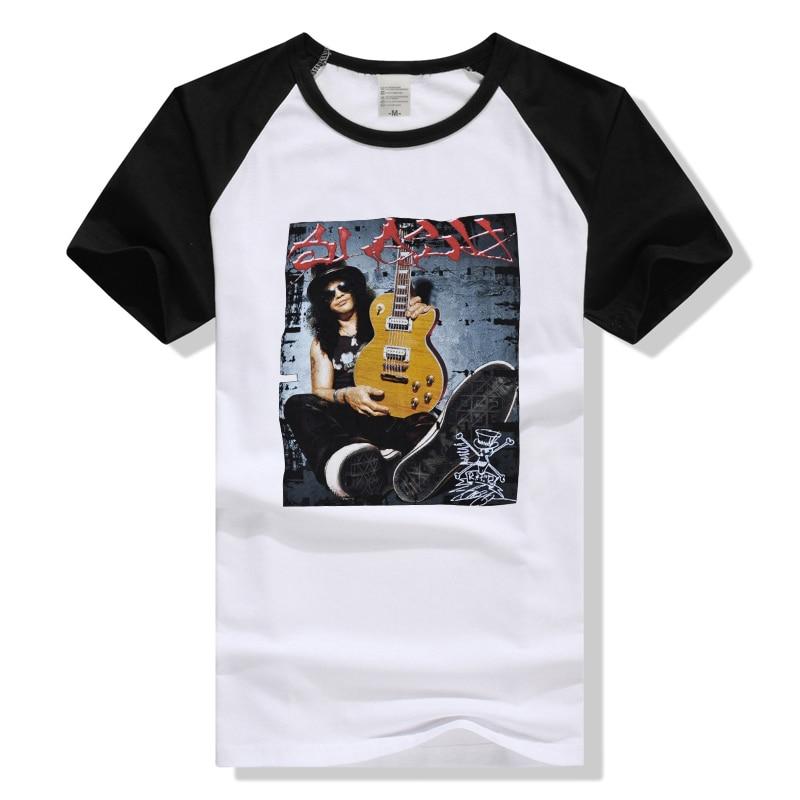 Guns N Roses Slash T Shirt Rock Band Tee Men Women T-Shirt Cotton Tshirt Summer Top Guns And Roses GNR Clothing Vintage Poster