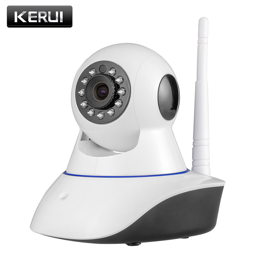 KERUI 720P HD Indoor Wireless Wifi home security surveillance ip camera with night vision infrared Network Internet camera zilnk video intercom hd 720p wifi doorbell camera smart home security night vision wireless doorphone with indoor chime silver
