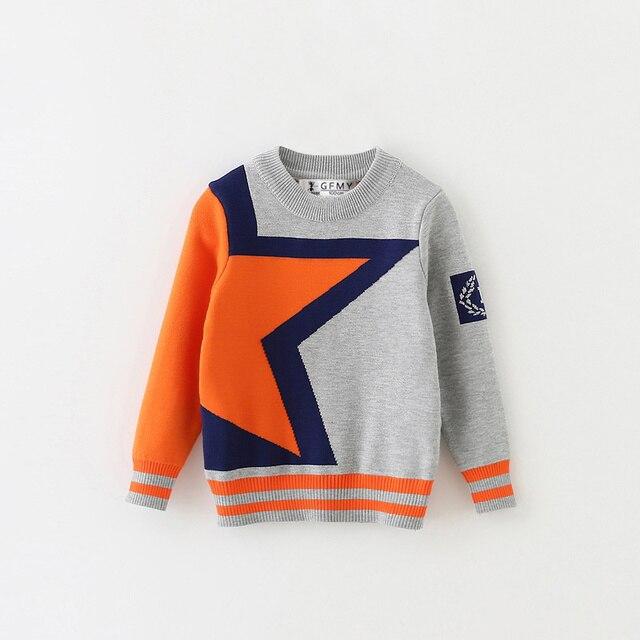 ea6cd7296 Full Sleeve O neck Star Boys Woolen Pull Homme Boys Sweater Pull ...
