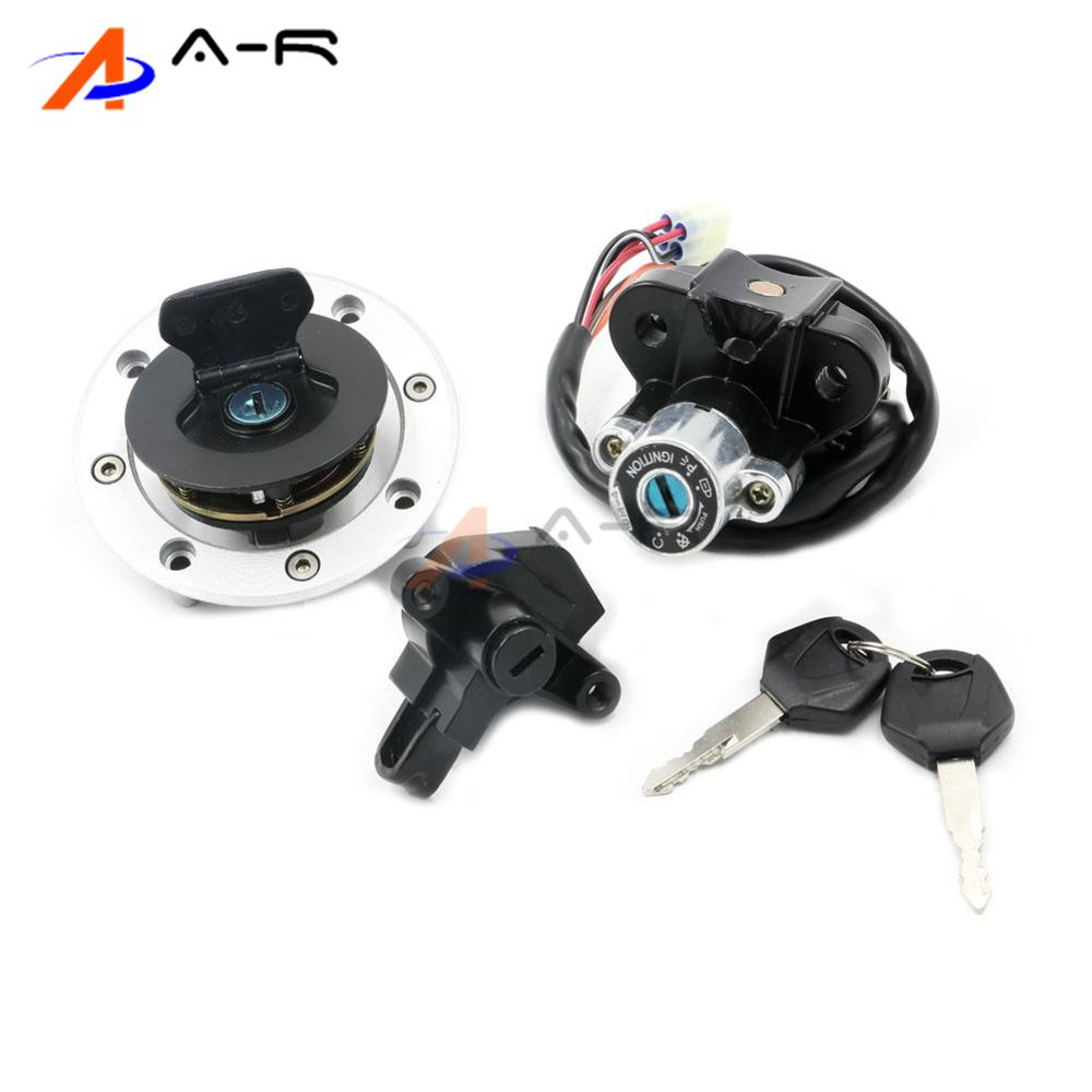 95-2005 For SUZUKI GSF600 GSF1200 Bandit Motorcycle Ignition Switch Oil Gas Fuel Petrol Tank Cap Cover Seat Handle Locsk W/ Keys
