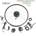 EINES TAGES 48V250W electric bike conversion kit mit lcd5 display e bike hinten kassette hub motor mit sprach und felge-in Conversion Kit aus Sport und Unterhaltung bei