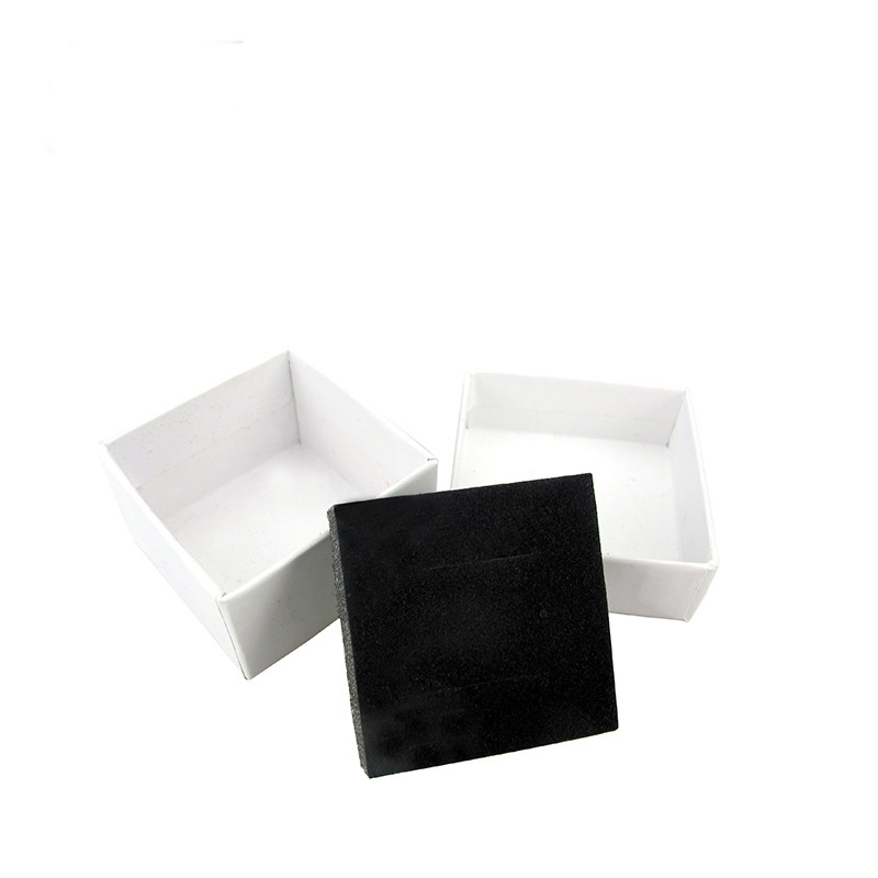 20 Pcs/Lot Kraft Paper Gift Boxes With Pure White Jewelry Ring Earring Persentation Box Cases Customized Display Packaging