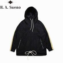 H.A. Sueno 2017 men sweatshirt fashion hoodies with zipper style tops simple mens