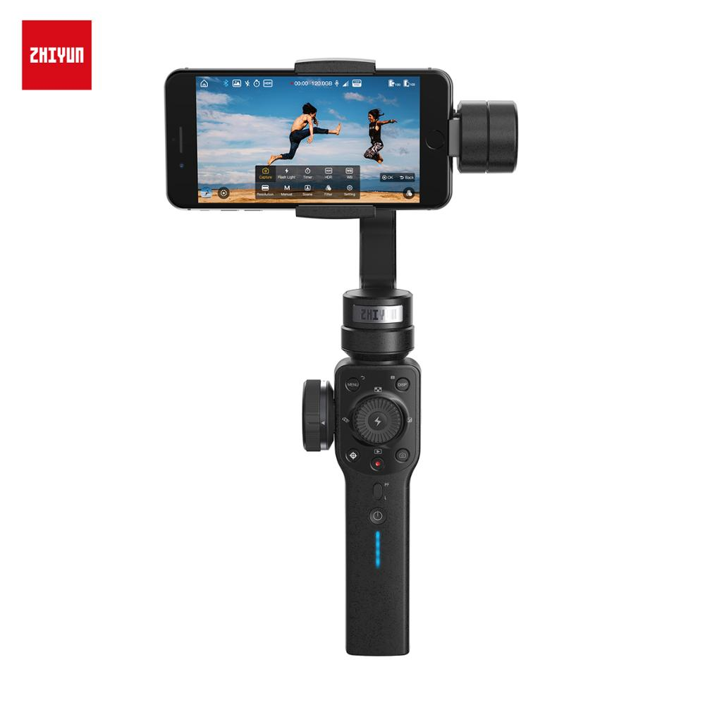 ZHIYUN support de caméra stabilisateur Portable à cardan Portable lisse 4 3 axes pour iPhone Huawei Samsung pour Smartphone