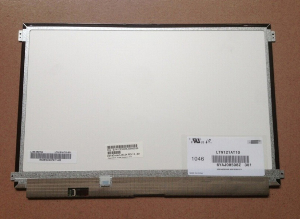 Quying LTN121AT10 301 Replacement laptop lcd screen 12.1 Inch lcd panel For Sony laptop 1366*768 1366 768 10 1 led panel lp101wh1 tlp1 lp101wh1 tla3 ltn101at03 led n101bge l02 claa101wa01a for sony vpcw219jc netbook screen