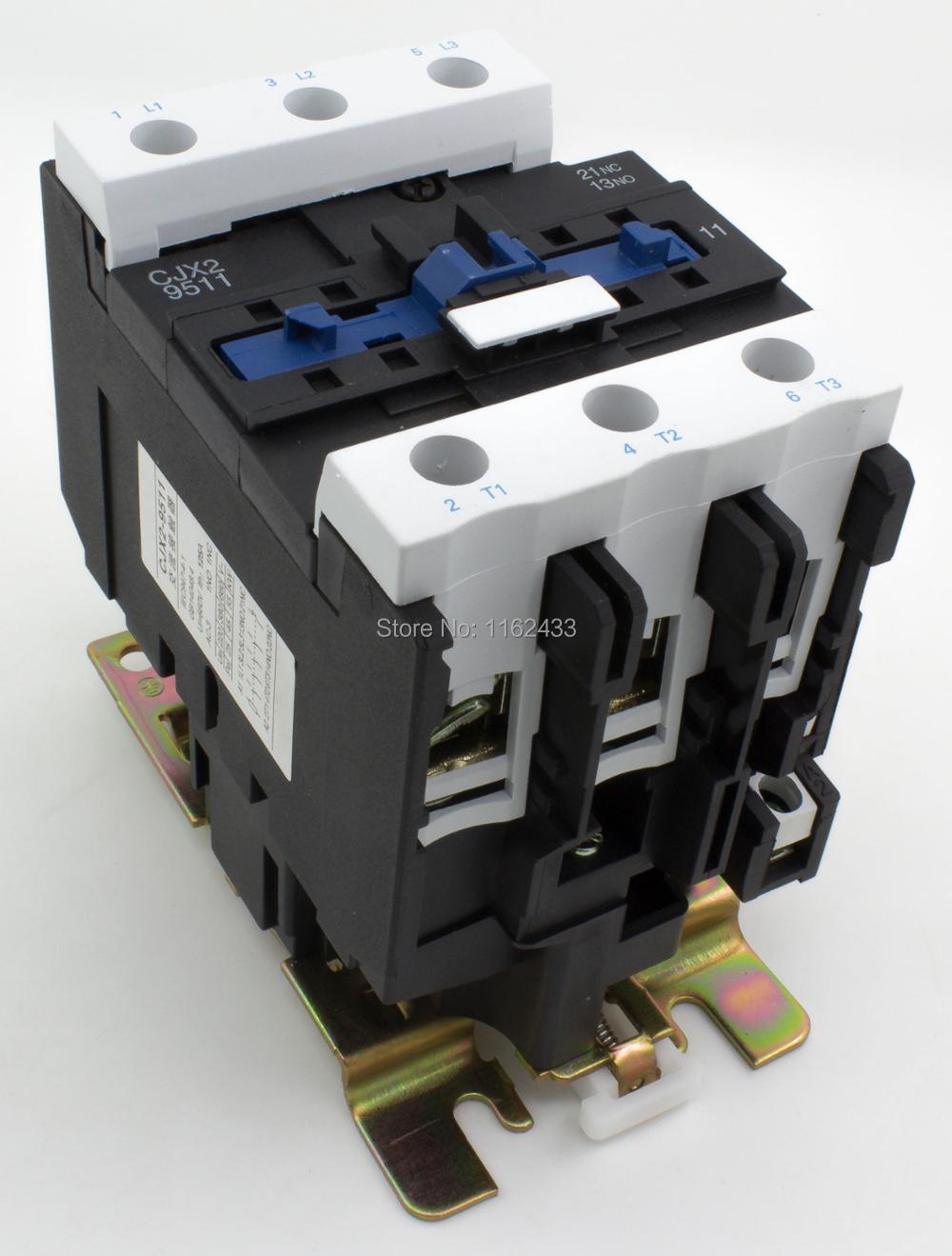 CJX2-9511 95A 3P NO + NC AC contactor CJX2-95 LC1-D95 series contactor 220V 380V 110V 48V 36V 24V