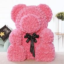 2018 Valentines Cadeau Super ours (70 cm grand) 7 couleurs PE Rose Ours Cadeau De Mariage Petite Amie Cadeau Anniversaire Cadeau