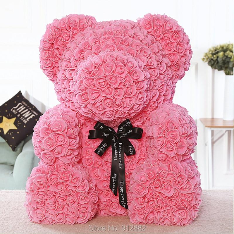 2018 Valentines Gift Super urso (70 cm de altura) 7 cores PE Subiu Presente de Casamento Urso de Presente Namorada Presente de Aniversário
