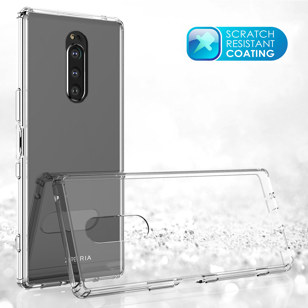 for <font><b>Sony</b></font> Xperia 1 <font><b>Case</b></font> Xperia 10 Plus Shock-resistant Transparent Hard Back Slim Cover Clear Protective Shel Coque for <font><b>Xperia10</b></font> image