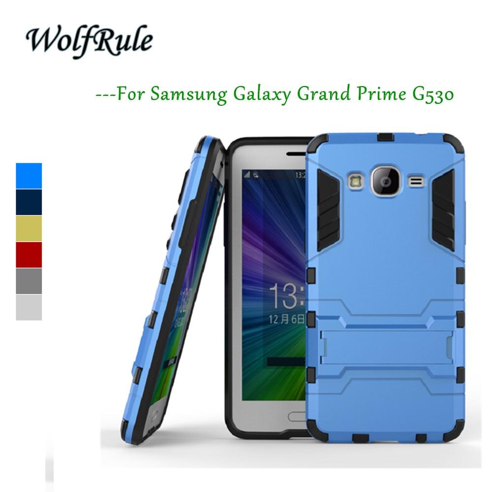 WolfRule étui pour samsung Galaxy Grand Prime couverture Silicone + plastique étui pour samsung Grand Prime Case G530 G530H G531F