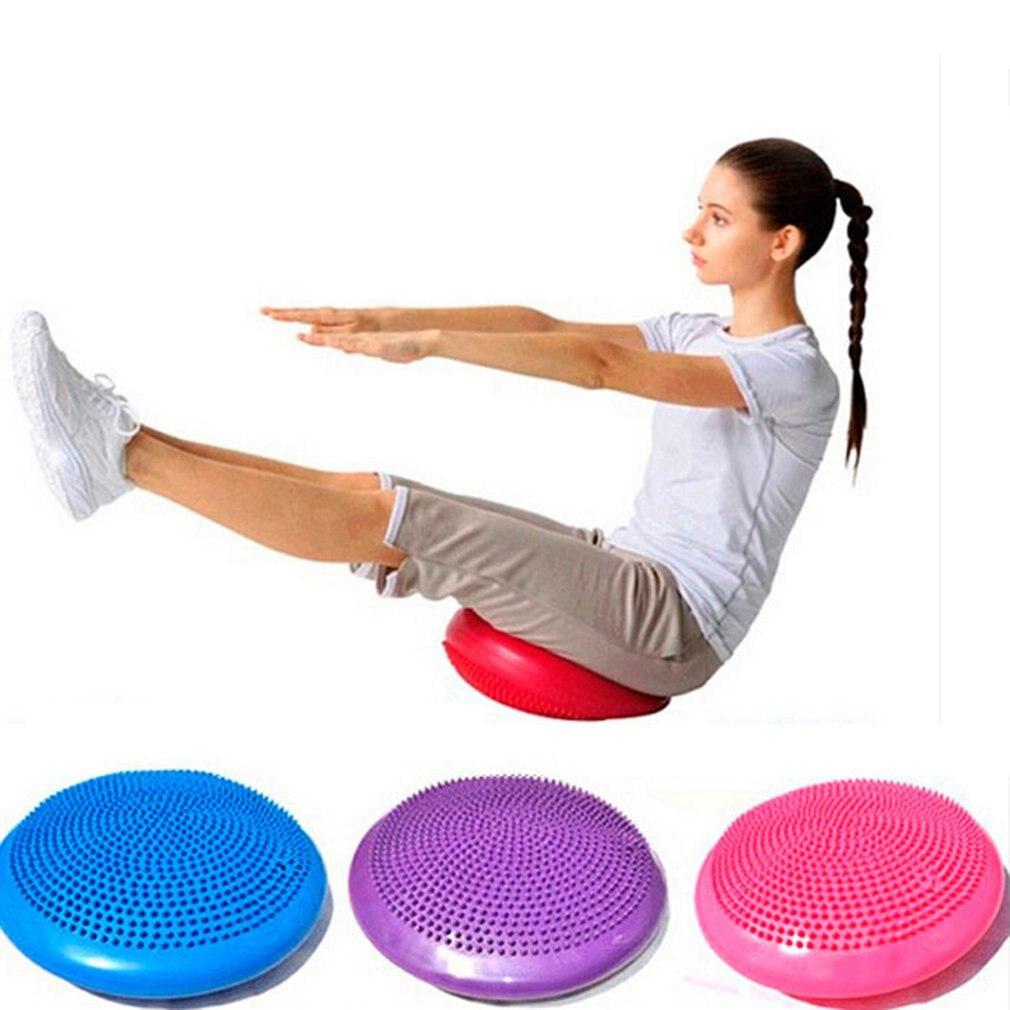 Universal Home Balance Disc PVC Balance Yoga Balls Portable Massage Pad Massage Cushion Fitness Training Ball цена и фото