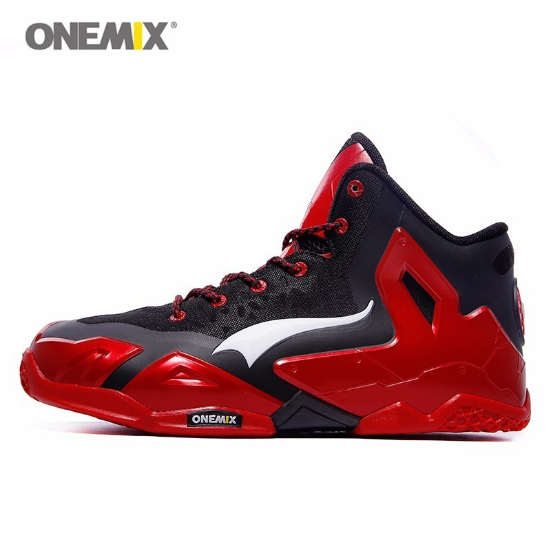 Onemix Men Basketball Shoes Sport Trainer Adult Basket ball Slip Resistant Man's Athletic Sneakers 9 Colors Baloncesto Black