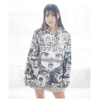 kpop Leisure printing Anime Hooded Japanese Loose bangtan boys sweatshirt blackpink hoodie moletom sudadera mujer hoodies women