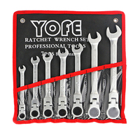 7pcs a set of keys tools for the cars repair the key with combination Flexible ratchet wrench auto repair tool HD6121