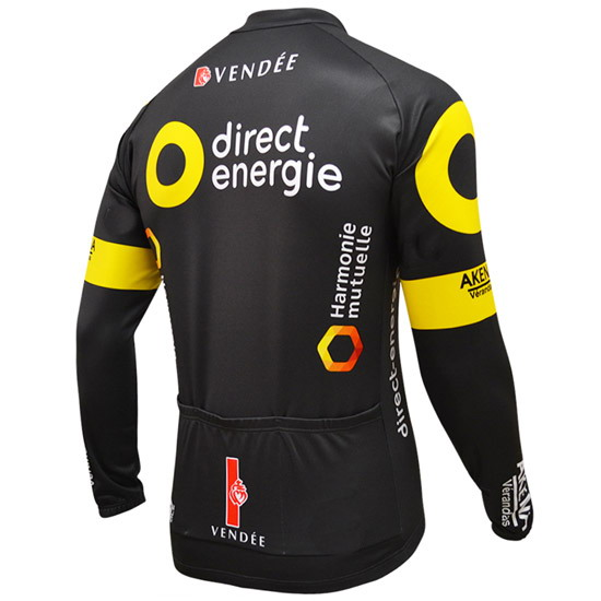 Spring Summer 2016 DIRECT ENERGIE PRO TEAM Men s Cycling Jersey Long Sleeve  Bicycle Clothing With Bib PANTS Ropa Ciclismo-in Cycling Sets from Sports  ... 59a9d75bc