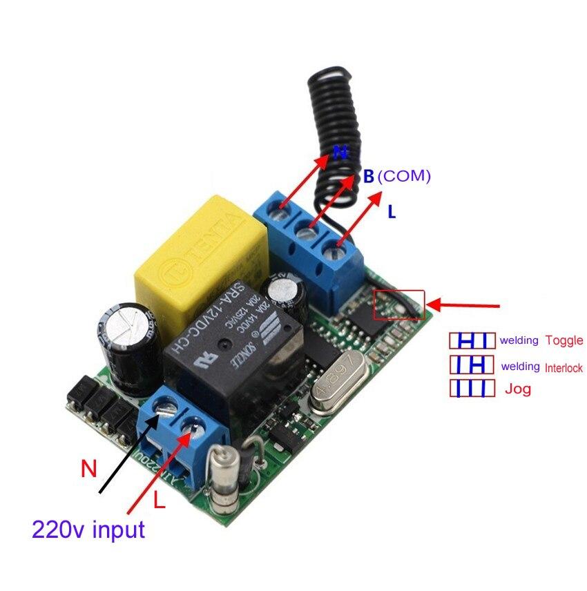 Новый Тип Вход Выход 220 В rf Беспроводной Дистанционное управление выключатель света Одно реле с две кнопки приемник передатчик 315 мГц 433 мГц