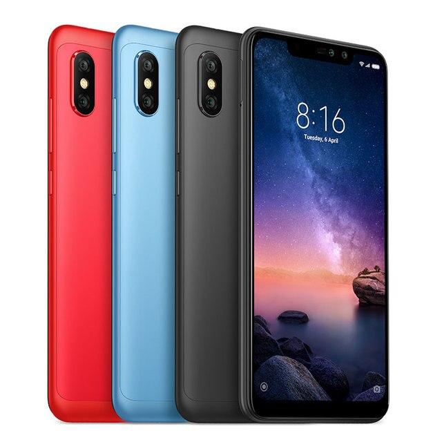 Global version Xiaomi Redmi Note 6 Pro 64GB 4GB RAM ROM Snapdragon 636 Octa Core 4000mAh Full Screen 12MP+5MP Dual Camera