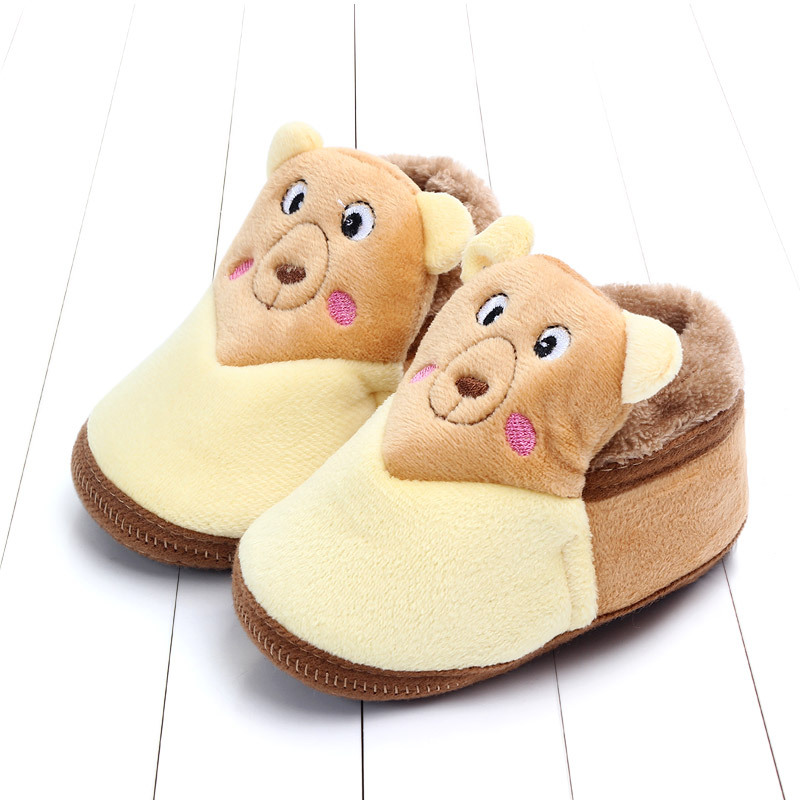 Indoor First Walkers Baby Shoes Cotton Anti-slip Booties Winter Wammer Baby Girl Boy Shoes Newborn Slippers Footwear Booties (8)