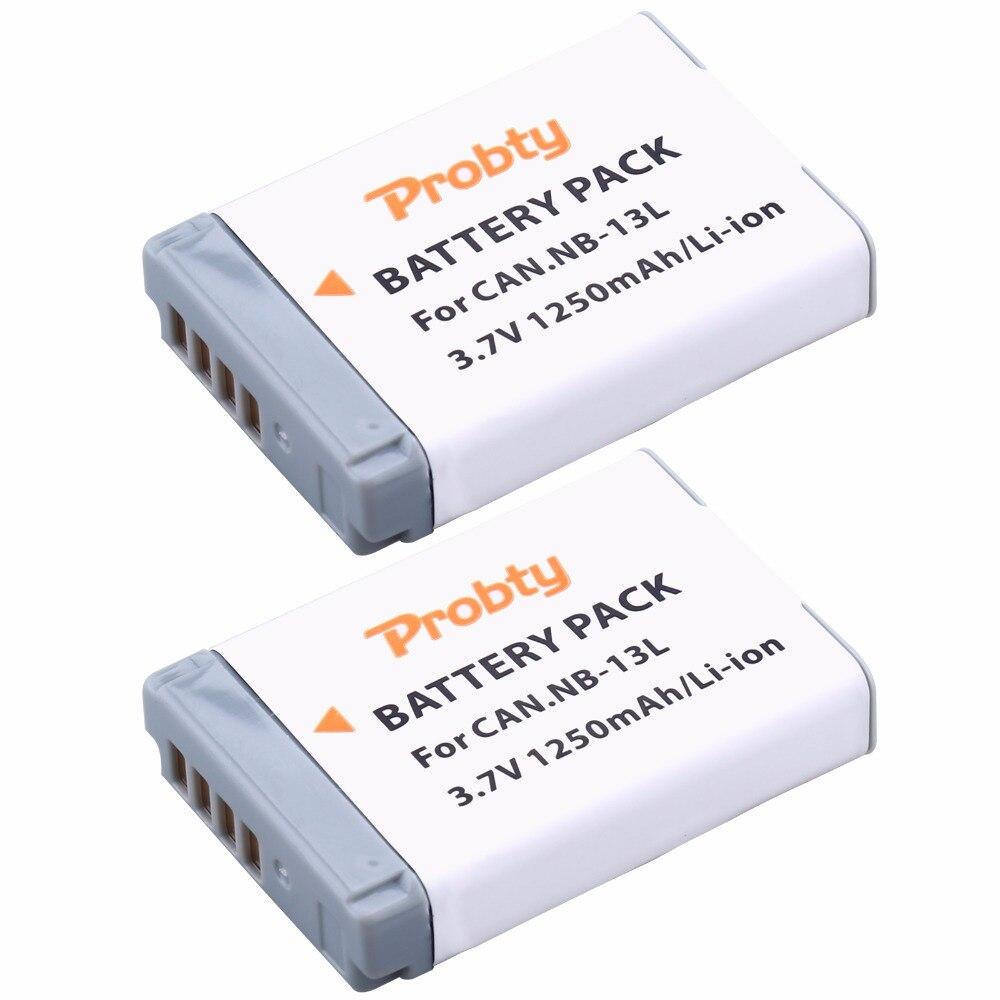 2 Pz Probty NB 13L NB 13L NB13L Batteria per Canon PowerShot G5 X G7 X G7 X Mark II G9 X SX620 HS SX720 HS Fotocamera Digitale 1250 mAh-in Batterie digitali da Elettronica di consumo su AliExpress - 11.11_Doppio 11Giorno dei single 1