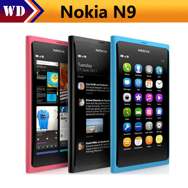Nokia N9 Original N9-00 16GB WCDMA Refurbished N9-Phone WIFI Unlocked 8-Mp-Camera GSM
