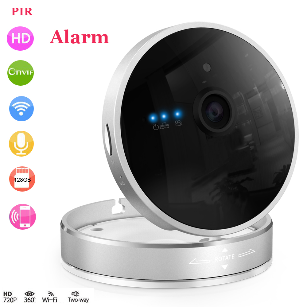 HD 720P Wireless IP Camera Smart Home IP Cube Camera Wifi P2P Night vision PIR Alarm audio SD Card slot IR cut Motion detection