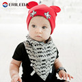 Brand Baby Hat Cotton Kintted Ear Cap For Baby Girls And Boys Autumn Winter Infant Hats
