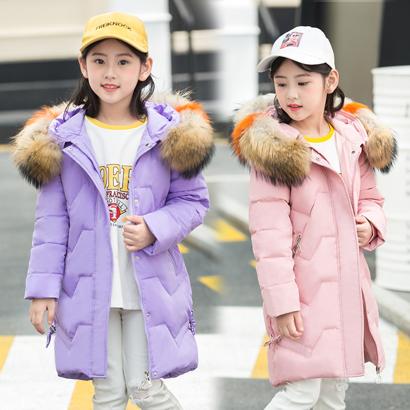 OLEKID 2018 Winter Jacket For Girls Warm Thicken Hooded Girls Winter Coat 3-12 Years Kids Teenage Outerwear Winterjas Meisjes baby girls jackets 2018 winter jacket for girls winter coat kids clothes children warm hooded outerwear coats winterjas meisjes