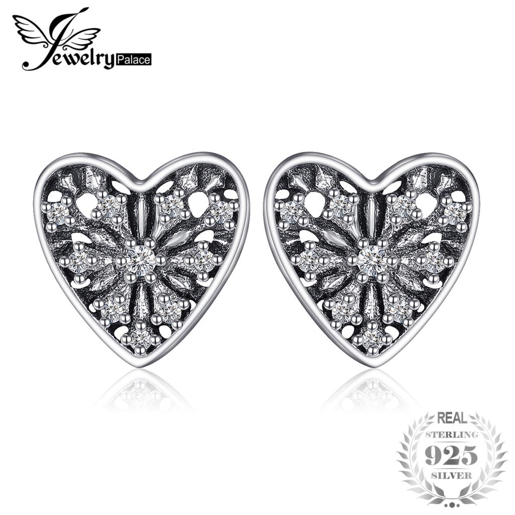 bdc6a1bf6 Jewelrypalace 925 Sterling Silver Glitter Women Stud