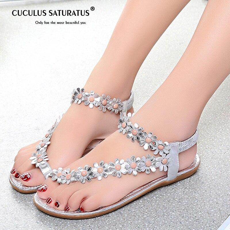 Cuculus 2019 Frauen Sandalen Sommer Stil Bling Bowtie Mode Peep Toe Gelee Schuhe Sandale Flache Schuhe Frau 3 Farben 01F669
