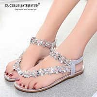 Cuculus 2020 Women Sandals Summer Style Bling Bowtie Fashion Peep Toe Jelly Shoes Sandal Flat Shoes Woman 3 Colors 01F669