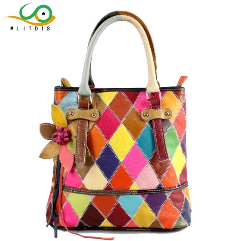 MLITDIS Genuine Leather Bags For Women Handbags Luxury Brand 2017 Leather New Tote Bags For Women Handbag Summer Torebka Damska