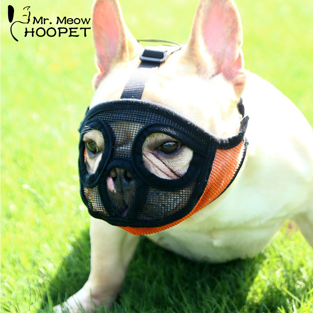 Hoopet Pet Small Dog French Bulldog Muzzle Dog Mouse Basket Breathable Muzzle For Dogs Leash Harness Supplies