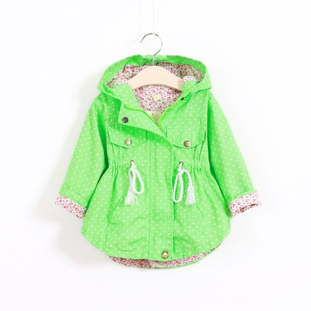 Baby Girl Coat  Long Sleeve Hoodes Outerwear Trench Girls Hoodies Jackets Kids Warm Clothing New
