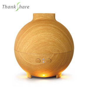 THANKSHARE 625ml Air Humidifier Wood Grain Ultrasonic Aromatherapy Aroma Lamp Diffuser LED Essential oil Diffuser Mist Maker