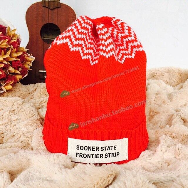 New USA amerika Beanie topi wol musim dingin topi hangat rajutan topi untuk pria  wanita Skullies 1e3204250b