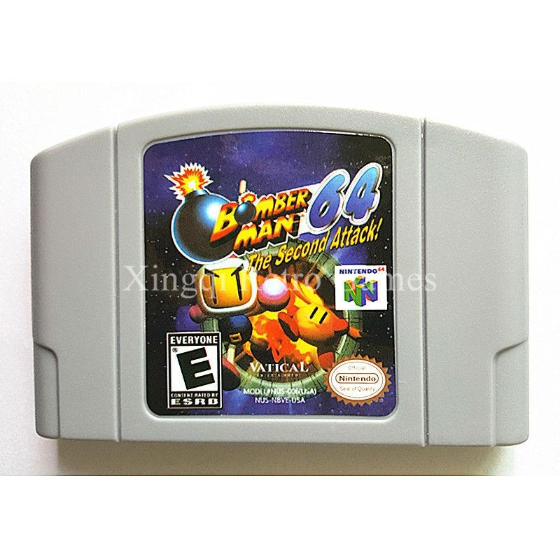 Consola Nintendo 64 Juego Bomberman 64 Cartucho de Juego de Vídeo Tarjeta de Idi