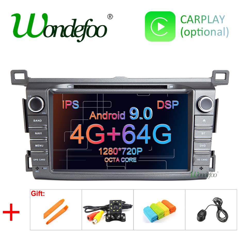 8 DSP IPS 4G RAM Android 9 0 4G 64G Car GPS For Toyota RAV4 2013