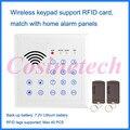 433/315MHZ wireless RFID keypad,password keypad keyboard for GSM pstn Home alarm system,RFID tag Access control system auto-lock