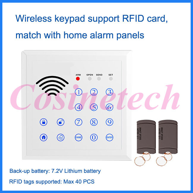 433MHZ wireless RFID keypad,password keypad keyboard for GSM pstn Home alarm system,RFID tag Access control system auto-lock k16 rfid touch keypad for kerui wireless pstn gsm alarm systems burglar access control system wireless password keypad
