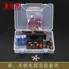 Circuitos simples são conectados em série e paralelo física experimental equipamentos elétricos caixa sem bateria frete grátis