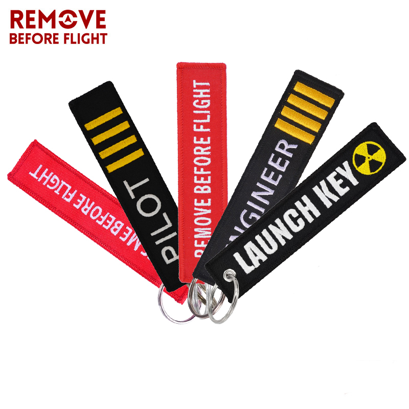 Remove Before Flight Keychain Jewelry Embroidery Engineer Key Chain For Aviation Gifts Luggage Tag Fashion Pilot Key Chains