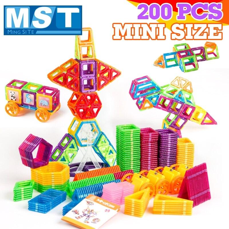 200 pcs Magnétique Blocs Magnétique De Construction Concepteur Construction Jouets Ensemble Aimant Jouets Éducatifs Pour Enfants Enfants Cadeau