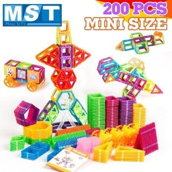 Conjunto Diseño Para Juguetes Piezas Magnético Bloques Educativos 200 Magnéticos De Construcción 80knwOP