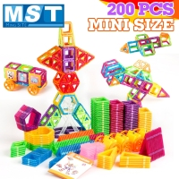 200PCS Magnetic Blocks Magnetic Designer Building Construction Toys Set Magnet Educational Toys For Children Kids Gift