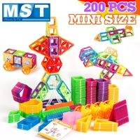 200PCS Magnetic Blocks Magnetic Designer Building Construction Toys Set Magnet Educational Toys For Children Kids Gift