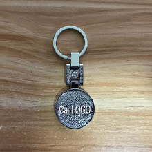 Diamond crystal style Car emblem key ring for Chevrolet Hyundai Skoda Audi Nissan Mazda Honda Bmw JEEP Keychain accessories(China)